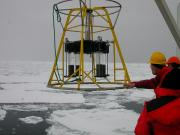 Recovering a benthic instrument in the Arctic