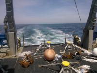 A view off the fantail with equipment