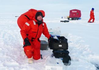 Chris Marsay during a 2015 expedition to the North Pole.